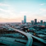 eagle eye view time lapse city and streets